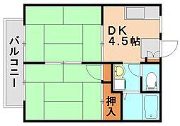 ファミールコートA[2階]の間取り