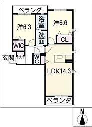 メゾンドソレイユ大屋敷[3階]の間取り