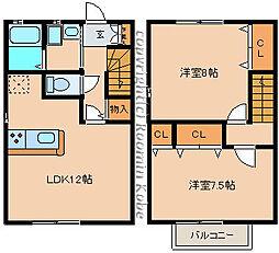 [テラスハウス] 兵庫県神戸市西区南別府3丁目 の賃貸【/】の間取り