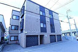 北海道札幌市厚別区厚別中央三条3丁目の賃貸アパートの外観