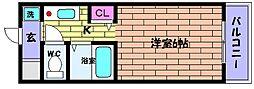 兵庫県神戸市東灘区御影石町2丁目の賃貸マンションの間取り