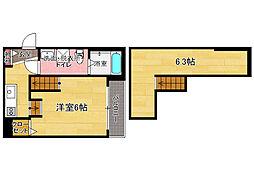 ラ・フォート那珂[1階]の間取り