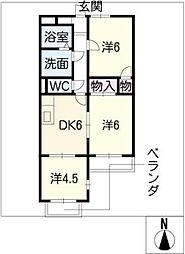 テピカルイブ 3[4階]の間取り