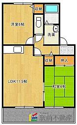 フローラ新栄[A201号室]の間取り