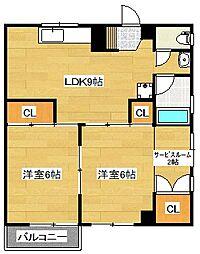 山村ビル[503号室]の間取り