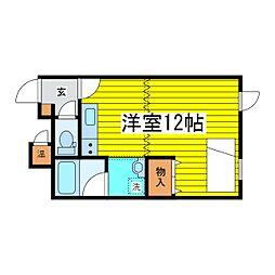 北海道札幌市東区北二十五条東15丁目の賃貸アパートの間取り