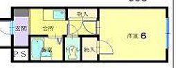 金沢ドーム5号館[208号室]の間取り