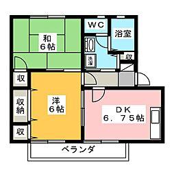 ハイカムール半田A・B[2階]の間取り