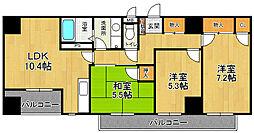 ポートサイド・博多[9階]の間取り