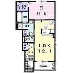 徳島県板野郡北島町鯛浜字大西の賃貸アパートの間取り