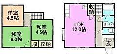 [一戸建] 福岡県久留米市東合川町 の賃貸【/】の間取り