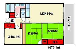 メゾネットパーク大橋[4階]の間取り