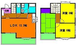 [テラスハウス] 静岡県浜松市中区和合北4丁目 の賃貸【静岡県 / 浜松市中区】の間取り