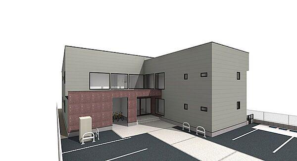 (仮)横川4丁目新築アパート[201号室]の外観
