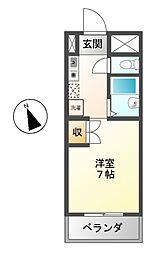 ハインホーフ雪扇[5階]の間取り