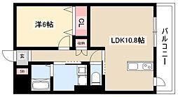 ディアコートK VII 5階1LDKの間取り