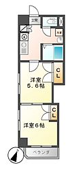 レジデンスカープ名古屋[6階]の間取り