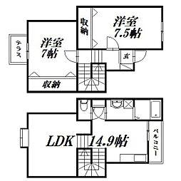 [一戸建] 静岡県浜松市中区佐鳴台5丁目 の賃貸【/】の間取り