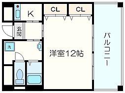 Osaka Metro御堂筋線 本町駅 徒歩8分の賃貸マンション 10階1Kの間取り