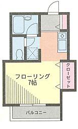 プロスパ藤井[105号室]の間取り