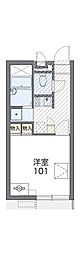 JR片町線(学研都市線) 忍ヶ丘駅 徒歩8分の賃貸アパート 2階1Kの間取り
