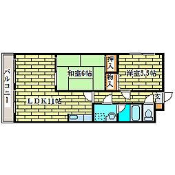 ルトロヴァイユ清田[3階]の間取り