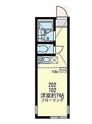 神奈川県横浜市西区御所山町の賃貸アパートの間取り