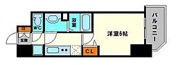 グランカリテ大阪城EAST 11階1Kの間取り