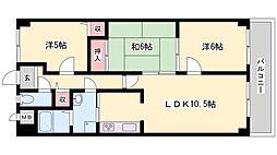 兵庫県姫路市大塩町の賃貸マンションの間取り