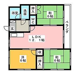 パークサイド広田[3階]の間取り