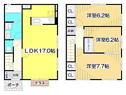 [テラスハウス] 埼玉県志木市中宗岡2丁目 の賃貸【/】の間取り