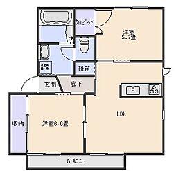アスナロ[2階]の間取り