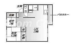 四宮ニューハウス[1階]の間取り