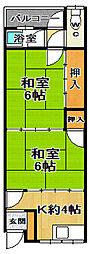 松田アパート[1階]の間取り