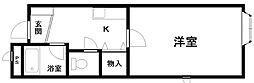 リヴェール岸和田[305号室]の間取り