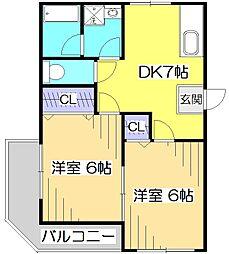 第1ゼルコバマンション[3階]の間取り