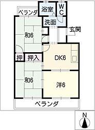 光マンション[3階]の間取り