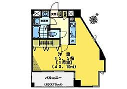 東中野エイトワンマンション[801号室]の間取り