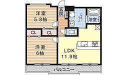 ガーデンシティ柳ヶ崎[103号室号室]の間取り