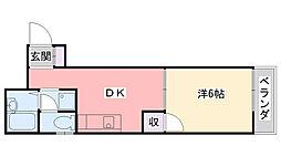 藤原ハイツ[203号室]の間取り