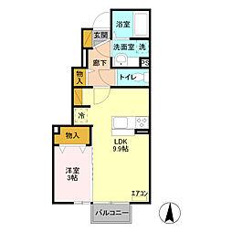 ジェントリー  II番館[1階]の間取り