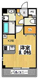 大阪府大阪市鶴見区今津中3丁目の賃貸マンションの間取り