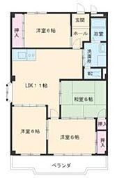第3マンダイマンション[3階]の間取り