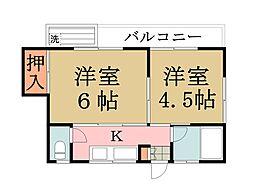 アモールI[1階]の間取り