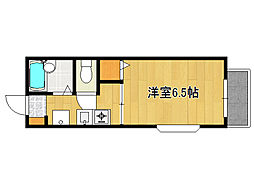 兵庫県神戸市灘区将軍通1丁目の賃貸アパートの間取り