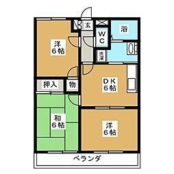 サンモールハイツ[2階]の間取り