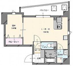 (仮称)博多南駅前新築マンション 4階1LDKの間取り