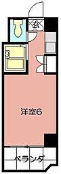 ビブレ西小倉B館[501号室]の間取り