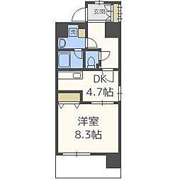 エイペックス梅田東II[9階]の間取り