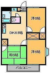 アンザベルテIII[1階]の間取り